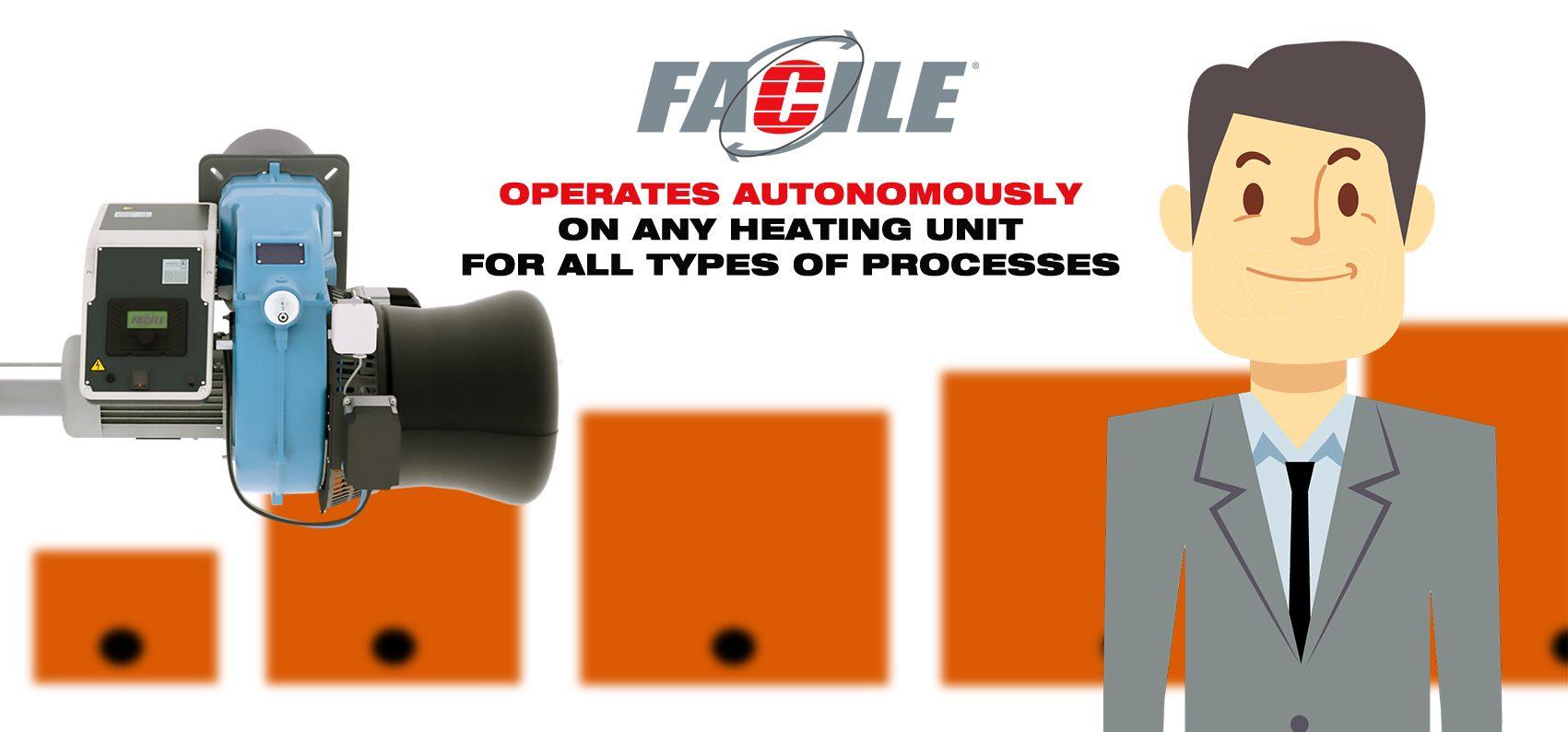 FACILE CIB Unigas operates autonomously on any heating unit